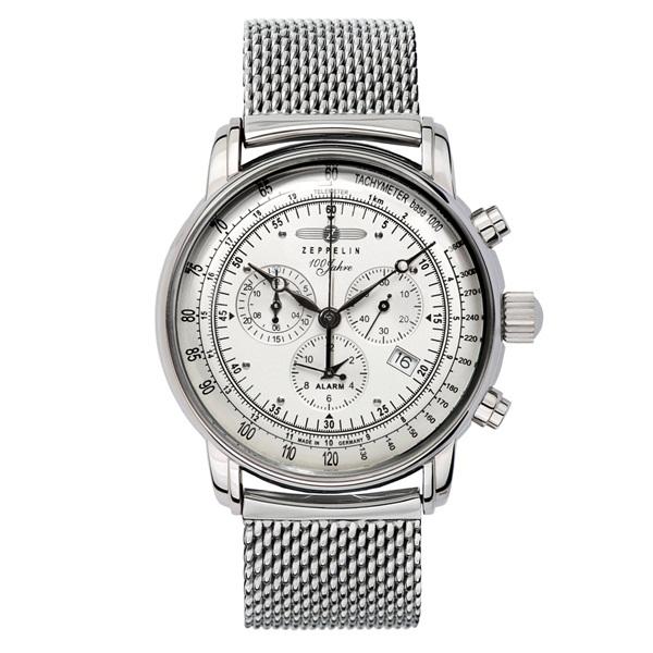 ツェッペリン 時計 メンズ 腕時計 100周年記念モデル クロノグラフ シルバー ステンレス シルバー ケース 7680M-1 ビジネス 男性 ブランド 【仕事用】 誕生日 お祝い プレゼント ギフト お洒落