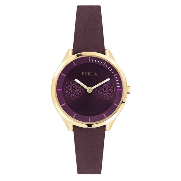 無料特典付き! フルラ レディース 腕時計 メトロポリス ゴールドケース 紫色 パープルレザー R4251102516 ビジネス 女性 ブランド 時計 誕生日 お祝い プレゼント ギフト お洒落