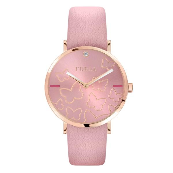 FURLA フルラ 時計 レディース 腕時計 女性 ピンク バタフライ 蝶々 革 レザー R4251113512 ビジネス 女性 ブランド 時計 誕生日 お祝い プレゼント ギフト お洒落