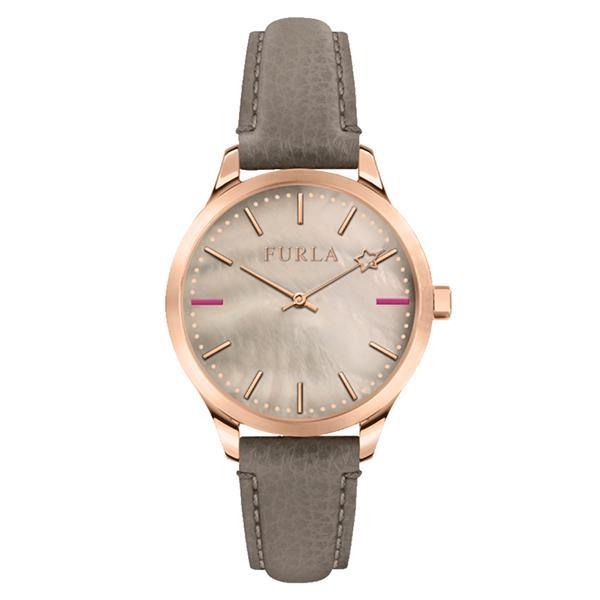 FURLA フルラ 時計 レディース 腕時計 女性 ローズゴールド シェル 革 グレー レザーウォッチ R4251119507 ビジネス 女性 ブランド 時計 誕生日 お祝い プレゼント ギフト お洒落