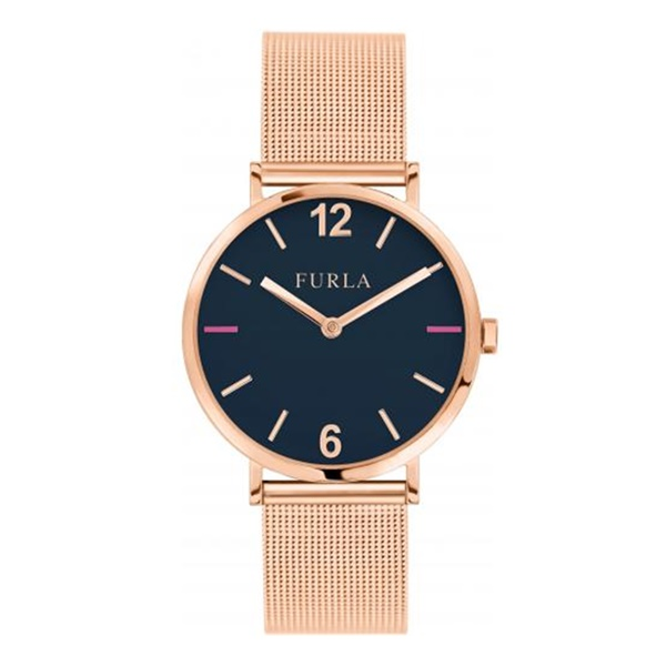フルラ 時計 レディース 腕時計 ジャーダ シンプル 大人 ブラック文字盤 ローズゴールド メッシュ 女性用 とけい 贈り物に R4253108516 ビジネス 女性 ブランド 時計 誕生日 お祝い プレゼント ギフト