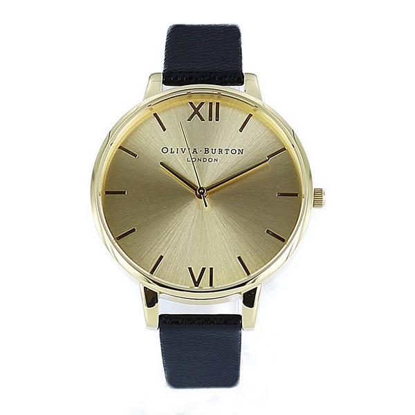 オリビアバートン 時計 レディース 腕時計 ビッグダイヤル ゴールド ブラック レザー OB13BD06 ビジネス 女性 ブランド 時計 誕生日 お祝い プレゼント ギフト お洒落