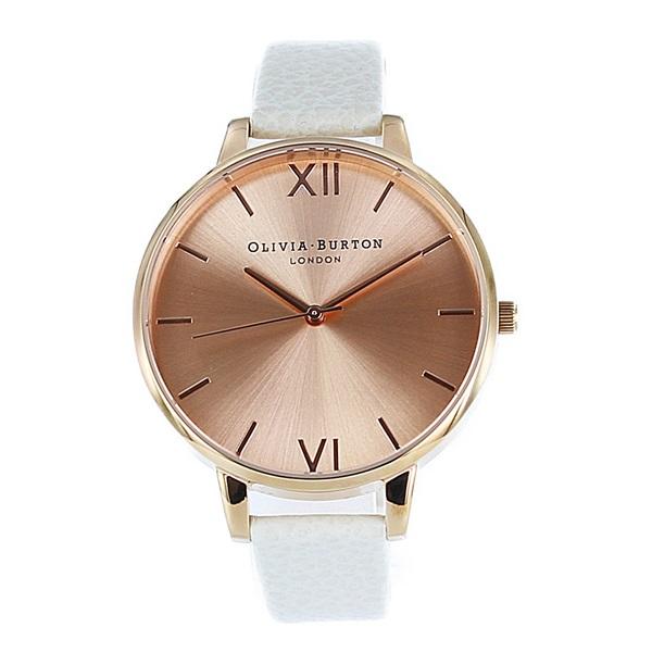 オリビアバートン 時計 レディース 腕時計 ビッグダイヤル ローズゴールド ホワイト レザー OB13BD11 ビジネス 女性 ブランド 時計 誕生日 お祝い プレゼント ギフト お洒落