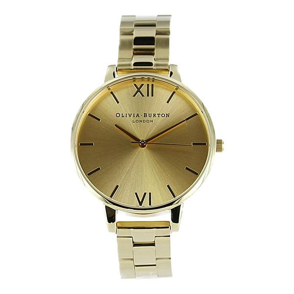オリビアバートン 時計 レディース 腕時計 38mm ビッグダイヤル ゴールド ステンレス OB13BL08BS ビジネス 女性 ブランド 時計 誕生日 お祝い プレゼント ギフト お洒落