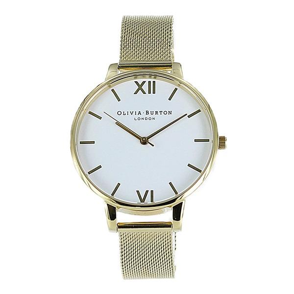 オリビアバートン 時計 レディース 腕時計 ホワイトダイヤル ゴールド メッシュ ステンレス OB15BD84 ビジネス 女性 ブランド 時計 誕生日 お祝い プレゼント ギフト お洒落
