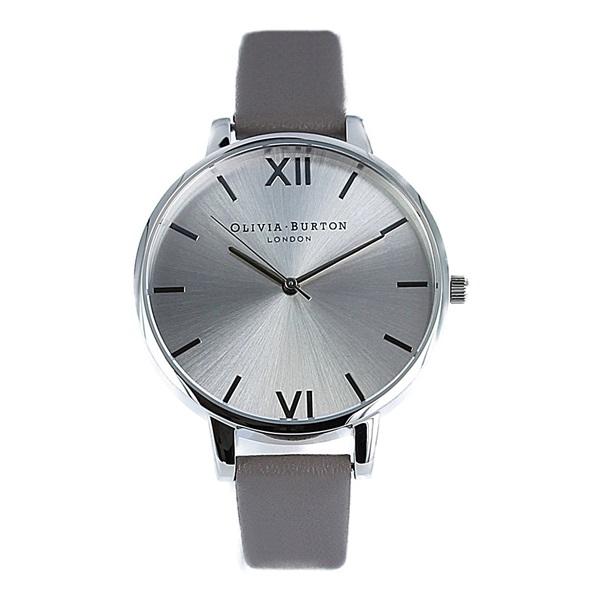 オリビアバートン 時計 レディース 腕時計 ビッグダイヤル シルバー グレイ レザー OB16BD99 ビジネス 女性 ブランド 時計 誕生日 お祝い プレゼント ギフト お洒落