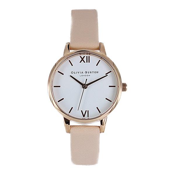 オリビアバートン 時計 レディース 腕時計 ミディダイヤル ホワイト ピンク レザー OB16MDW16 ビジネス 女性 ブランド 時計 誕生日 お祝い プレゼント ギフト お洒落