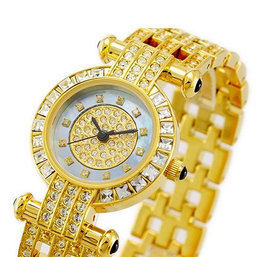 ルイラセール 時計 レディース 腕時計 天然ダイヤモンド ブルーシェル ゴールド ステンレス LL01GD-D ビジネス 女性 ブランド 時計 誕生日 お祝い プレゼント ギフト お洒落
