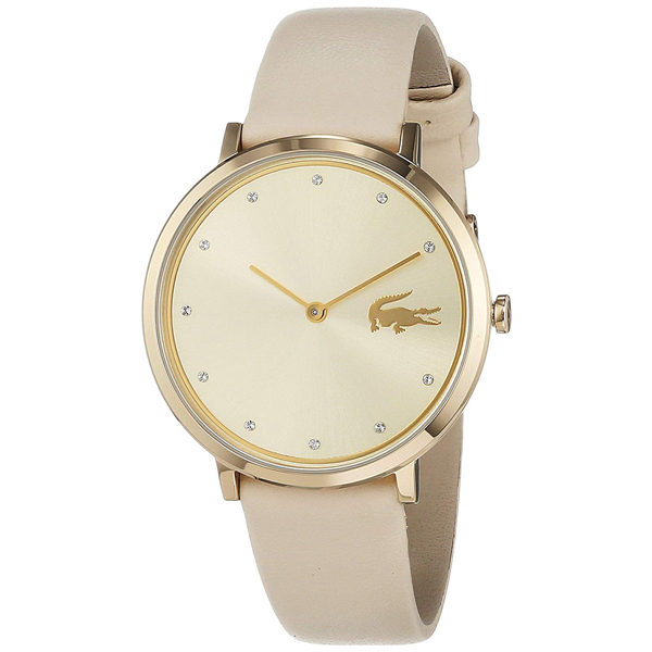 LACOSTE ラコステ レディース 腕時計 MOON ゴールド ベージュ レザー クリスタル 2001030 ビジネス 女性 ブランド プレゼント 誕生日 お祝い プレゼント ギフト お洒落