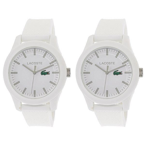 LACOSTE ラコステ ペアウォッチ シェア 腕時計 L.12.12 ホワイト ラバー 20107622010762 ビジネス 男性 女性 ペアセット カップル ブランド プレゼント 誕生日 お祝い プレゼント ギフト お洒落