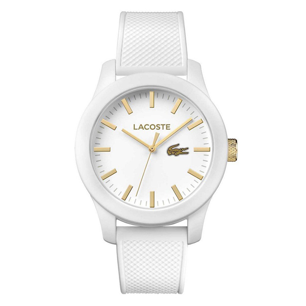 LACOSTE ラコステ メンズ レディース 腕時計 L.12.12 ゴールド ホワイト ラバー 2010819 ブランド カップル ユニセックス 男女 誕生日 お祝い プレゼント ギフト