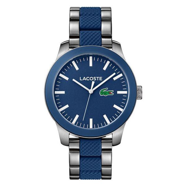 LACOSTE ラコステ メンズ 腕時計 12.12 ブルー シルバー ステンレス×ラバー 2010891 ブランド カップル 男性 誕生日 お祝い プレゼント ギフト お洒落