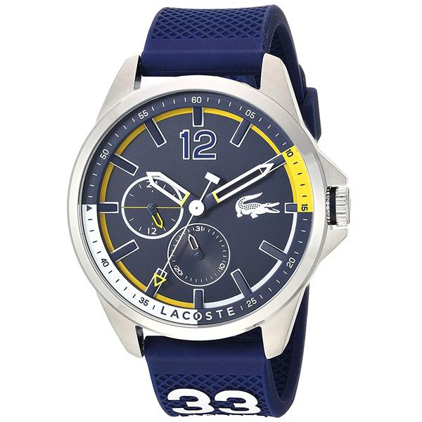 LACOSTE ラコステ メンズ 腕時計 Capbreton シルバーケース ネイビー ラバー 2010897 ビジネス 男性 ブランド プレゼント 誕生日 お祝い プレゼント ギフト お洒落