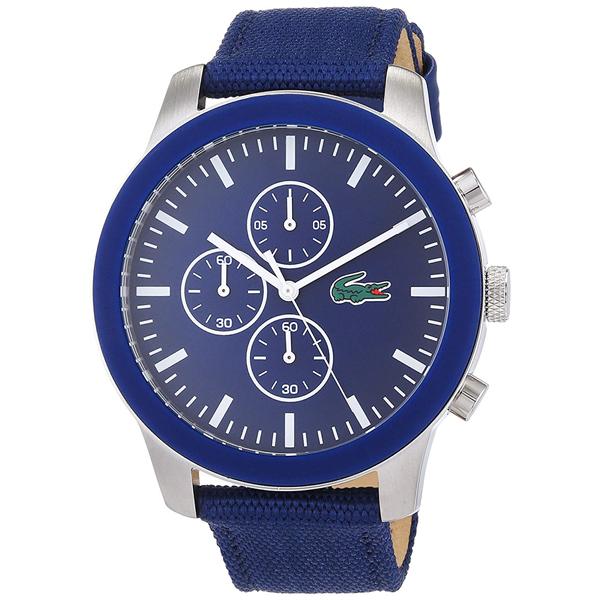 LACOSTE ラコステ メンズ レディース ユニセックス 腕時計 12.12 クロノグラフ ブルー ナイロン レザー 2010945 ビジネス 男性 女性 ブランド プレゼント 誕生日 お祝い プレゼント ギフト お洒落