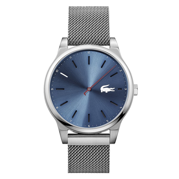 LACOSTE ラコステ メンズ 腕時計 シンプル 男性 ブルー×シルバー メッシュブレス 2010966 ブランド 男性 誕生日 お祝い プレゼント ギフト お洒落