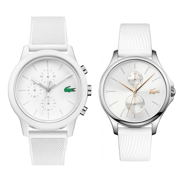 ラコステ 腕時計 ペアウォッチ メンズ レディース 白 ホワイト シリコンラバー 20109742001023 ビジネス 男性 女性 ペアセット カップル ブランド プレゼント 誕生日 お祝い プレゼント ギフト お洒落