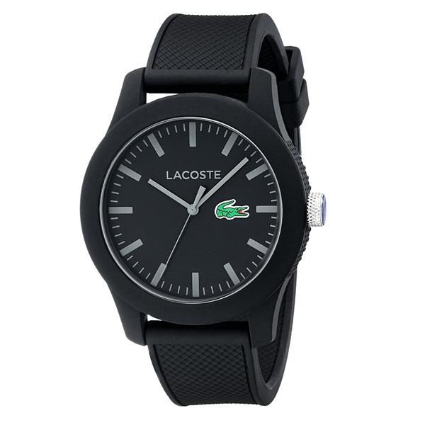 LACOSTE ラコステ メンズ 腕時計 L.12.12 ブラック ラバー 2010766 ブランド 男性 誕生日 お祝い プレゼント ギフト お洒落