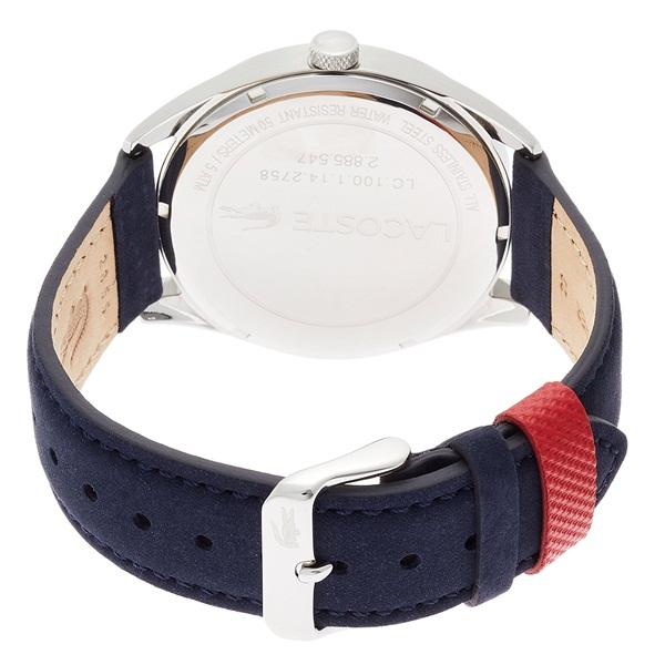 LACOSTE ラコステ メンズ 腕時計 シルバー文字盤 ブルー レザー 2010909 ビジネス 男性 ブランド プレゼント 誕生日 お祝い プレゼント ギフト お洒落