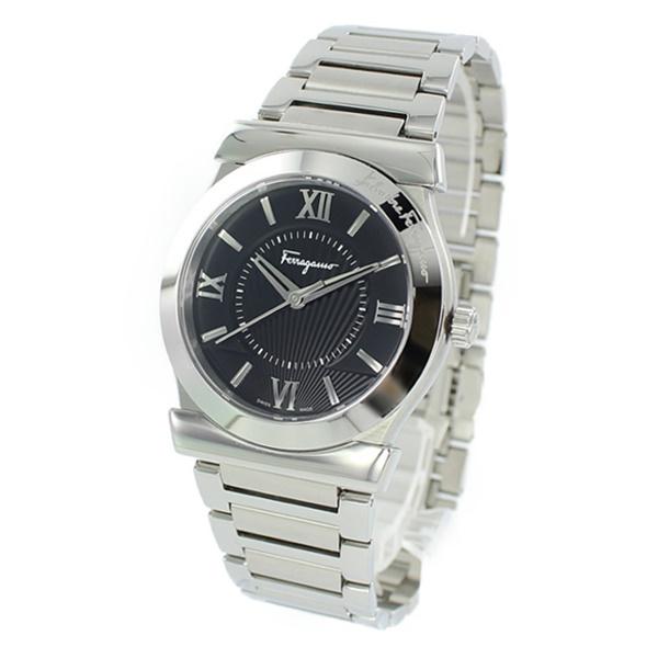 サルバトーレ フェラガモ 時計 メンズ 腕時計 VEGA 38MM SS BLACK DIAL BRACC ブラック シルバー ステンレス FI0940015 男性 ブランド 誕生日 お祝い プレゼント ギフト
