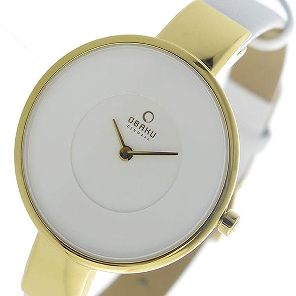 OBAKU オバク 時計 レディース 腕時計 32mm ゴールドケース ホワイト レザー V149LXGIRW ビジネス 女性 ブランド プレゼント 誕生日 お祝い プレゼント ギフト お洒落