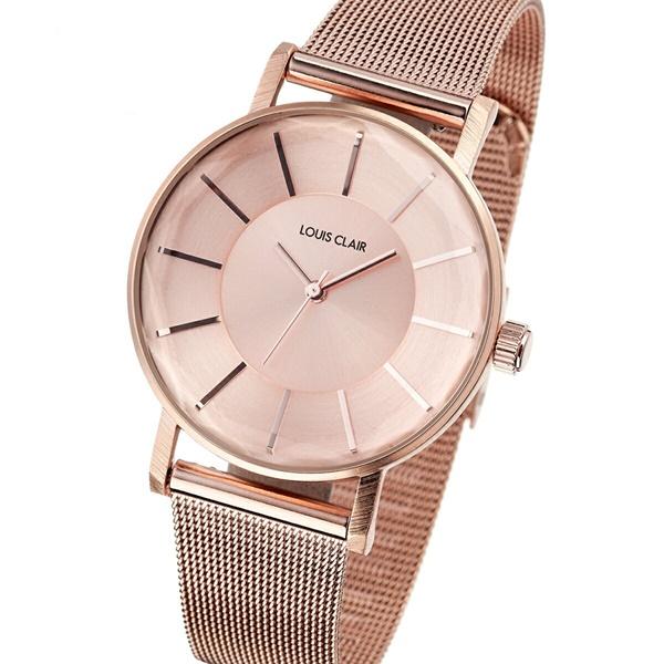 時計収納BOX付 国内正規品 ルイクレール 時計 レディース 腕時計 Rivoli リヴォリ ピンクゴールド メッシュ ブレスレットウォッチ CL01-RG ビジネス 女性 ブランド 誕生日 お祝い プレゼント ギフト