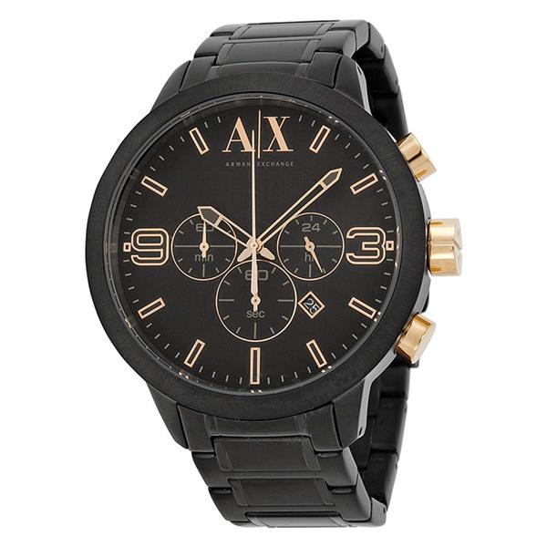 アルマーニエクスチェンジ 時計 メンズ 腕時計 ビックケース クロノグラフ ブラック ステンレスベルト 男性用 ギフト AX1350 ビジネス 男性 ブランド 時計 誕生日 お祝い プレゼント ギフト