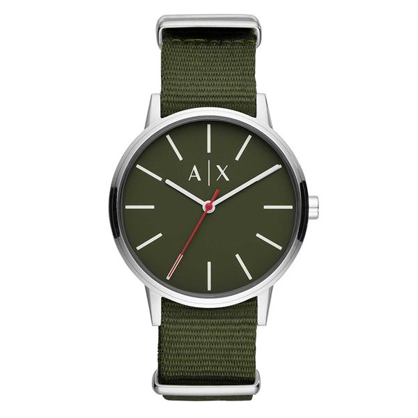 【キャッシュレス5%還元】アルマーニ・エクスチェンジ 時計 メンズ 腕時計 Cayde ケイデ オリーブ カーキグリーン ナイロン AX2709 ビジネス 男性 ブランド 時計 誕生日 お祝い プレゼント ギフト