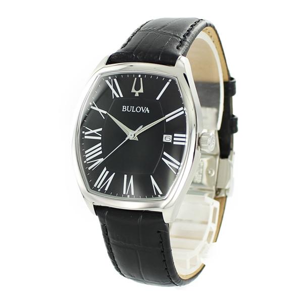 BULOVA ブローバ 時計 メンズ 腕時計 アンバサダー トノー型 シンプルデザイン ブラック レザー 96B290 ビジネス 男性 ブランド 誕生日 お祝い プレゼント ギフト