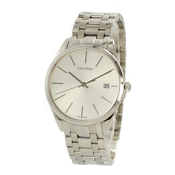 【キャッシュレス5%還元】カルバンクライン 時計 レディース 腕時計 TIME タイム シルバー文字盤 シルバー ステンレス K4N23146 ビジネス 女性 ブランド 時計 誕生日 お祝い プレゼント ギフト