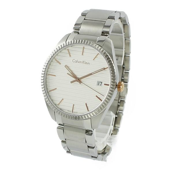カルバンクライン 時計 メンズ 腕時計 ALLIANCE シルバー文字盤 ステンレス ブレスレットウォッチ K5R31B46 ビジネス 男性 ブランド 時計 誕生日 お祝い プレゼント ギフト