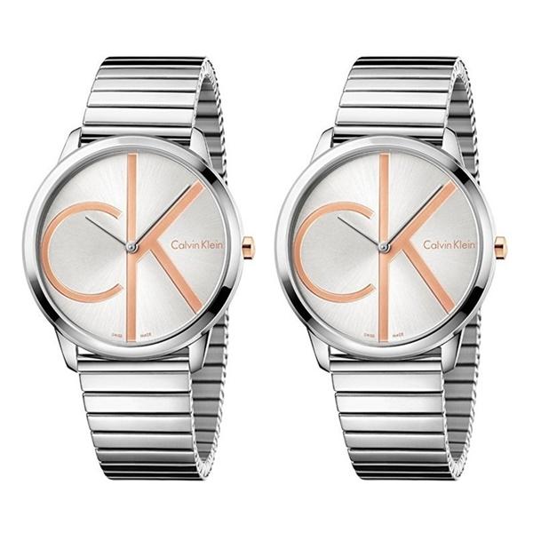 【キャッシュレス5%還元】カルバンクライン 腕時計 ペアウォッチ 同じ時計 2本セット ミニマル シンプル シルバー ステンレス ブレスレット 蛇腹 時計 K3M21BZ6K3M21BZ6 ビジネス 男女 ペアセット カップル ブランド 時計 誕生日 お祝い プレゼント ギフト