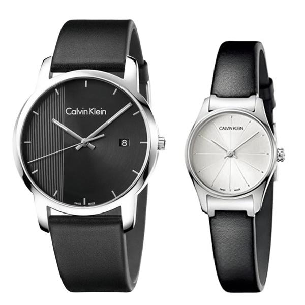 CALVIN KLEIN カルバンクライン CK 時計 メンズ レディース ペアウォッチ スイス製 腕時計 City シティ CLASSIC TOO クラシック トゥー 43mm 24mm レザー K2G2G1C1K4D231C6 ビジネス 男女 ペアセット カップル ブランド 時計 誕生日 お祝い プレゼント ギフト