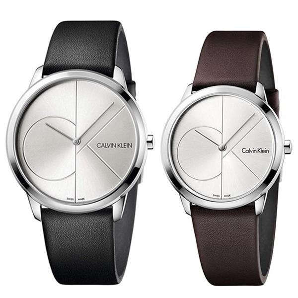 CALVIN KLEIN カルバンクライン CK 時計 メンズ レディース ペアウォッチ スイス製 腕時計 MINIMAL ミニマル 2針 40mm 35mm レザー K3M211CYK3M221G6 ビジネス 男女 ペアセット カップル ブランド 時計 誕生日 お祝い プレゼント ギフト