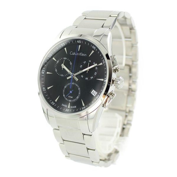 カルバンクライン CK 時計 メンズ 時計 彼氏が喜ぶ クロノグラフ ブラック  K5A27141 毎日使える 仕事用 男性 男友達 ブランド 誕生日 記念日 お祝い プレゼント ギフト