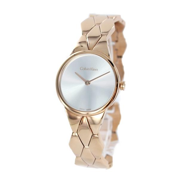 CALVIN KLEIN カルバンクライン 時計 レディース 腕時計 スネーク シルバー文字盤 ローズゴールド ブレスレット ウォッチ 大人 おしゃれ K6E23646 ビジネス 女性 ブランド プレゼント 誕生日 お祝い プレゼント ギフト