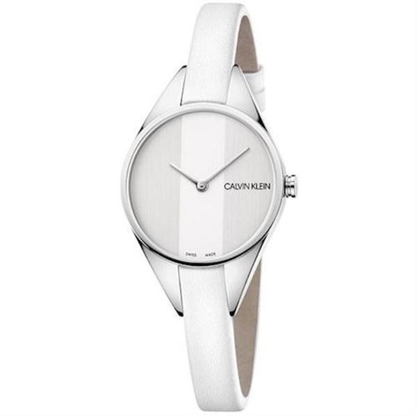 CALVIN KLEIN カルバンクライン CK 時計 レディース スイス製 腕時計 Rebel リベル 2針 2トーン シルバーケース ホワイト レザー K8P231L6 ビジネス パーティー フォーマル 女性 女友達 彼女が喜ぶ ブランド 誕生日 お祝い プレゼント ギフト