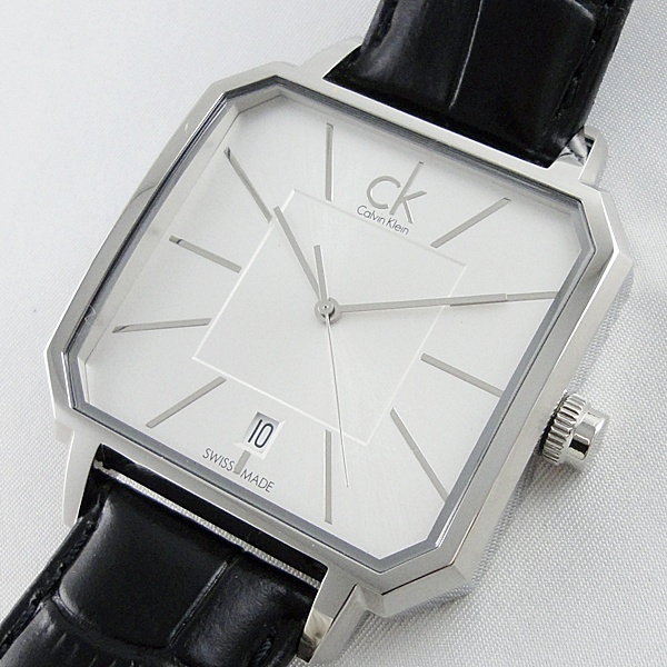 Calvin Klein カルバンクライン 腕時計 メンズ コンセプト ブラックレザー 革ベルト K1U21120 ビジネス 男性 ブランド 時計 誕生日 お祝い プレゼント ギフト お洒落