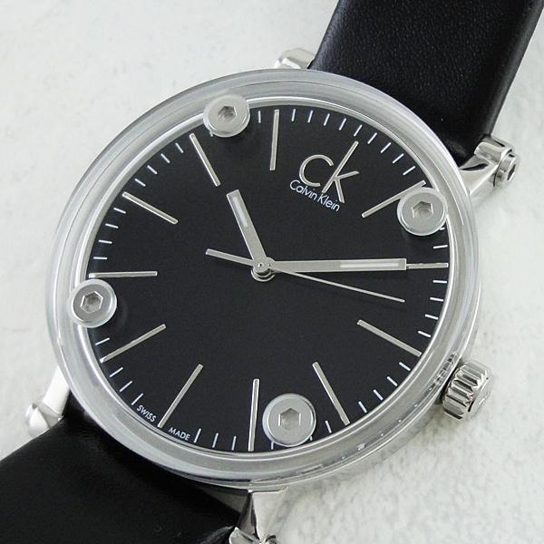 カルバンクライン 時計 レディース 腕時計 コージェント ブラックレザー 革ベルト K3B231C1 ビジネス 男性 ブランド 時計 誕生日 お祝い プレゼント ギフト お洒落