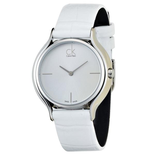 カルバンクライン 時計 レディース 腕時計 SKIRT スカート スイス製クオーツ シルバー文字盤 ホワイトレザー K2U231K6 ビジネス 男性 ブランド 時計 誕生日 お祝い プレゼント ギフト お洒落