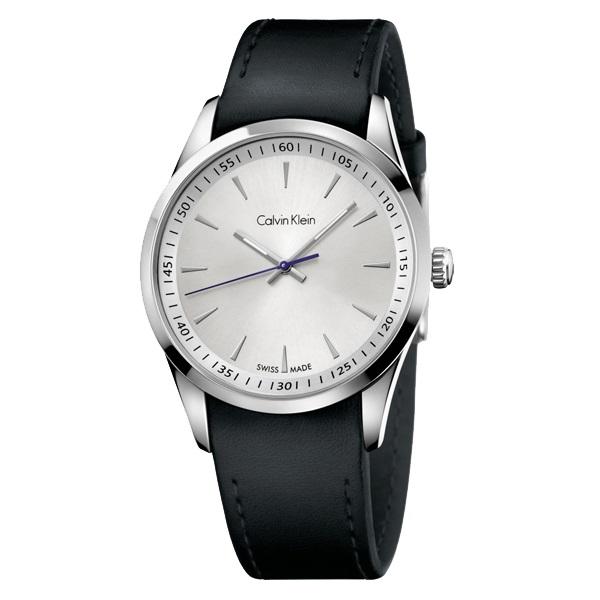 カルバンクライン 時計 メンズ 腕時計 ボールド シルバー文字盤 ブラックレザー K5A311C6 ビジネス 男性 ブランド 時計 誕生日 お祝い プレゼント ギフト お洒落