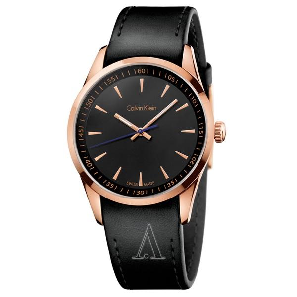 カルバンクライン 時計 メンズ 腕時計 ボールド ブラックレザー K5A316C1 ビジネス 男性 ブランド 時計 誕生日 お祝い プレゼント ギフト お洒落