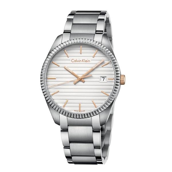 カルバンクライン 時計 メンズ 腕時計 ALLIANCE シルバー文字盤 ステンレス ブレスレットウォッチ K5R31B46 ビジネス 男性 ブランド 時計 誕生日 お祝い プレゼント ギフト お洒落