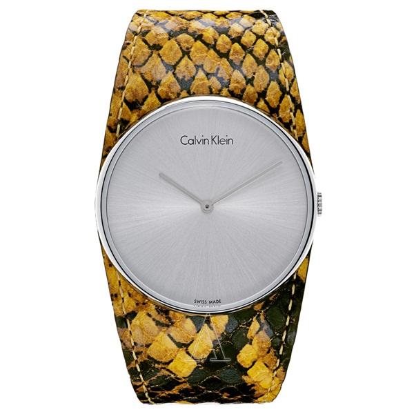 カルバンクライン 時計 レディース 腕時計 SPELLBOUND スペルバウンド イエロー ブラック レザー K5V231Z6 ビジネス 女性 ブランド 時計 誕生日 お祝い クリスマスプレゼント ギフト お洒落