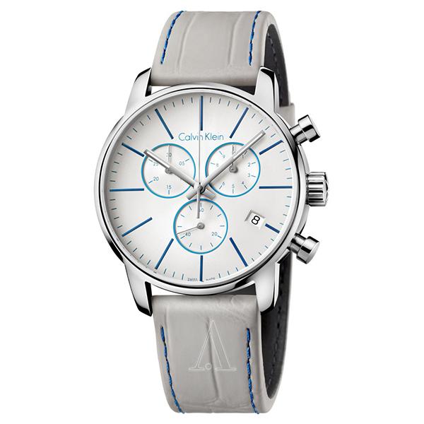 カルバンクライン 時計 メンズ 腕時計 CITY シティ クロノグラフ グレー レザー K2G271Q4 ビジネス 男性 ブランド 時計 誕生日 お祝い プレゼント ギフト お洒落