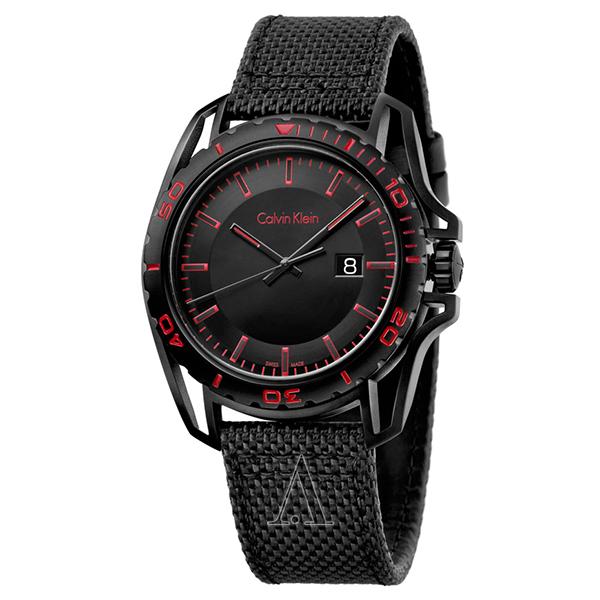 カルバンクライン 時計 メンズ 腕時計 EARTH アース ブラック ファブリック K5Y31ZB1 ビジネス 男性 ブランド 時計 誕生日 お祝い プレゼント ギフト お洒落