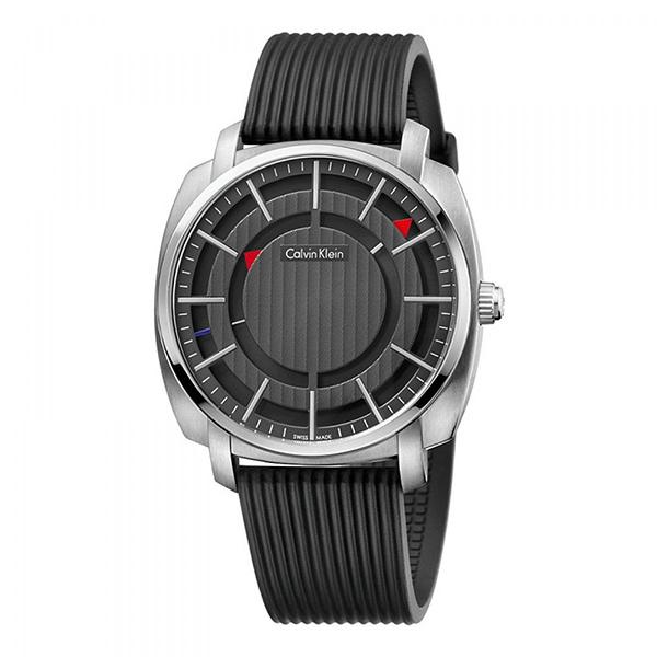 カルバンクライン 時計 メンズ 腕時計 HIGHLINE ハイライン 43mm ブラック ラバー K5M3X1D1 ビジネス 男性 ブランド 時計 誕生日 お祝い プレゼント ギフト お洒落