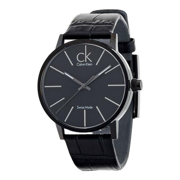カルバンクライン 時計 メンズ 腕時計 POST-MINIMAL ポスト-ミニマル 43mm ブラック レザー K7621401 ビジネス 男性 ブランド 時計 誕生日 お祝い プレゼント ギフト お洒落