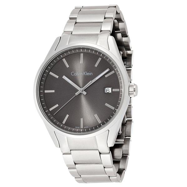 カルバンクライン 時計 メンズ 腕時計 FORMALITY フォーマリティ 43mm シルバーケース ダークグレー文字盤 シルバー ステンレス K4M21143 ビジネス 男性 ブランド 時計 誕生日 お祝い プレゼント ギフト お洒落