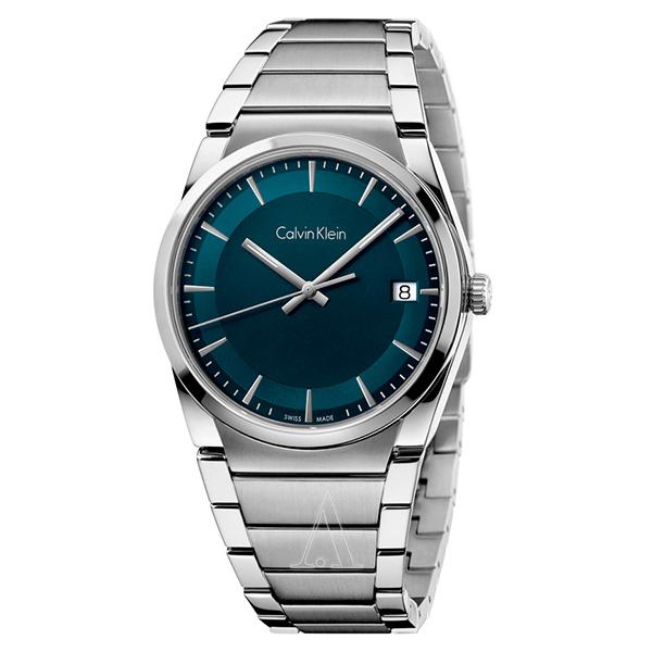 カルバンクライン 時計 メンズ 腕時計 STEP ステップ グリーン文字盤 シルバー ステンレス K6K3114L ビジネス 男性 ブランド 時計 誕生日 お祝い プレゼント ギフト お洒落