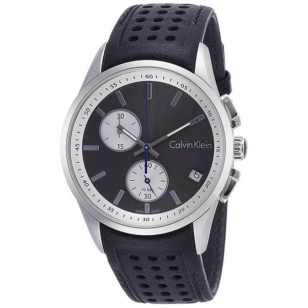 カルバンクライン 時計 メンズ 腕時計 BOLD ボールド クロノグラフ ブラック レザー K5A371C3 ビジネス 男性 ブランド 時計 誕生日 お祝い プレゼント ギフト お洒落